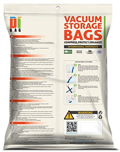 DIBAG ® Vakuumbeutel | 10 er Set | Unterschiedliche Größen - für Kleidung und Decken geeignet