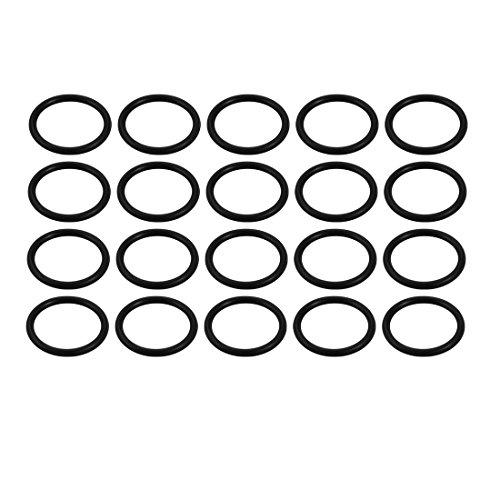 sourcing map 20Stk. Nitril Butadiene Rubber NBR O-Ring Schwarz Innen Dmr 15mm Breite 1,8mm de -