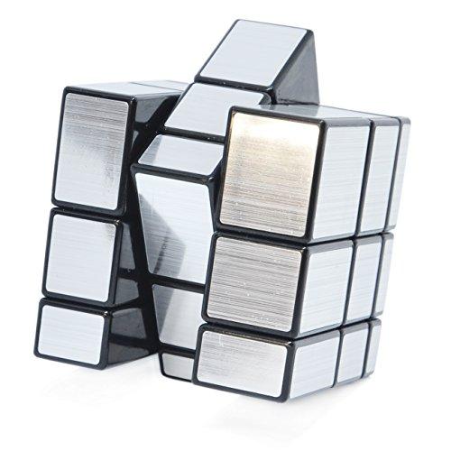 Puzzle Cubo de Rubik Mirror 3x3 3x3x3 de fácil giro y estilo plateado