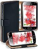moex® Booklet mit Flip Funktion [360 Grad Voll-Schutz] für Samsung Galaxy Ace 2 | Geldfach & Kartenfach + Stand-Funktion & Magnet-Verschluss, Schwarz