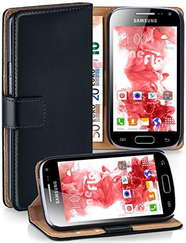 moex Cover a Libretto Compatibile con Samsung Galaxy Ace 2 | Fessura Carta + Soldi, Supporto, Nero