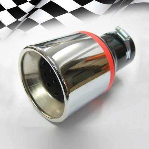 Preisvergleich Produktbild Boloromo 256 Universal Auspuff Blende Doppelrohr Endrohr Edelstahl Auspuffblende 43 - 57mm Ø Chrom
