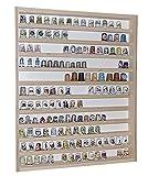 V75 Sammlervitrine Setzkasten Fingerhut Vitrine Holz Regal 41 cm x 52 cm x 5 cm mit Plexiglasscheiben Alsino