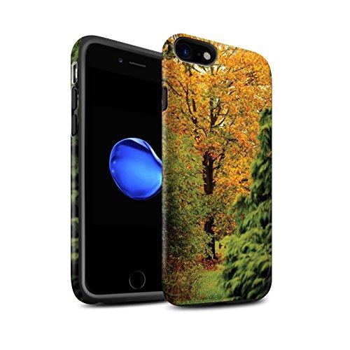 STUFF4 Matte Harten Stoßfest Hülle / Case für Apple iPhone 8 / Pinke Rose Muster / Englische Gärten Kollektion Alter Baum
