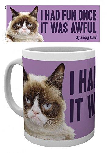 Gatti - Grumpy Cat, Fun Tazza Da Caffè Mug (9 x 8cm)