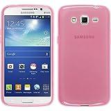 Funda de silicona para Samsung Galaxy Grand 2 - transparente rosa - Cover PhoneNatic Cubierta + protector de pantalla