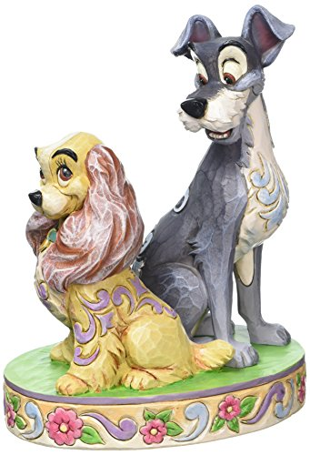 Enesco 4046040 Figur Disney Tradition, Opposites Attract Lady & The Tramp 60th Anniversary, 12,7 x 8,9 x 17,1 cm
