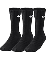 Nike 3Ppk Value Cotton Crew - Calcetines unisex, color negro/ blanco, talla L/ 42-46