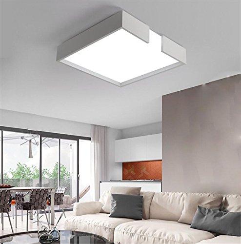 Wohnzimmerlampe Deckenleuchte Wohnzimmer Eckig Weiss Deckenlampe