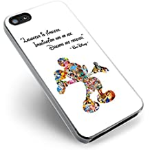 Walt Disney Quote Cute Characters for iPhone Case (iPhone 6/6S white)