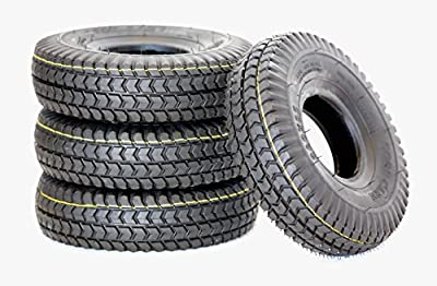 Set of 4 3.00-4 (260x85) Black Block Tread Mobility Scooter Tyres
