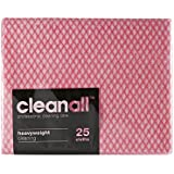 cleanall jcc25r gamuza de porteros, peso pesado, Rojo (paquete de 24)