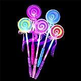 AAA226 LED S'allumer Clignotante Fée Magic Wand Princesse Lollipop Stick Girl Cadeau Noël-Aleatoire Couleur