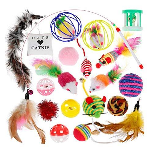Balock Schuhe Katzenspielzeug Eingestellt,20 STÜCKE Katzenspielzeug Hundespielzeug,Lustige Katze Maus Sisal Baby Katze Liebe Spielzeug Set (Katze In Der Katze Kostüme)