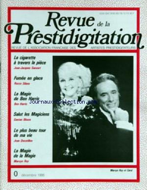 REVUE DE LA PRESTIDIGITATION [No 390] du 01/12/1986 - J.JACQUES SANVERT - ROCCO SILANO - LA MAGIE DE BEN HARRIS - GAETAN BLOOM - JEAN DUCATILLON - MARVYN ROY ET CAROL. par Collectif