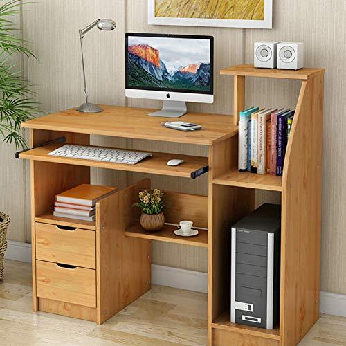 Wayward Computertisch Mit Tastaturunterlage,Computer Schreibtisch Mit Schubladen Hutch Und Bücherregal Kompakt Pc-Laptop Home Office Workstation-a 100x40x90cm(39x16x35) (Mit Home-office Für Hutch Schreibtisch)