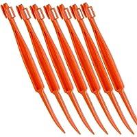 nbrell Orangenschäler - Niedliche und Praktische Früchte Schäler mit sicherer Klinge aus Kunststoff, 7 Stück in Farben Orange