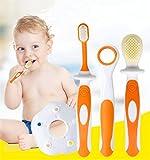 Zahnpflege-Baby-Trainings-Bürsten-weiche Silikon-Beißringe Zahnbürste-Zungen-Bürsten-Säuglingsmassager-Zahnbürsten-Satz