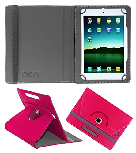 Acm Rotating Leather Flip Case for Tescom Bolt Tablet Cover Stand Dark Pink  available at amazon for Rs.149