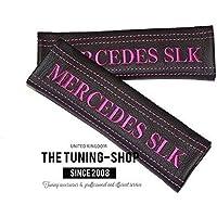 2x cintura cover imbottito spalla nero in pelle rosa Mercedes SLK (Mazda 6 Oem Sostituzione)