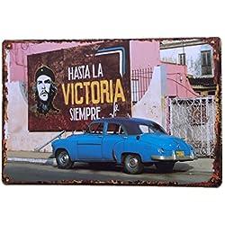 Pósteres Muestra Lata Arte de Cartel Café Placa Vintage Pub Barra Metálica Decoración Motocicleta 33