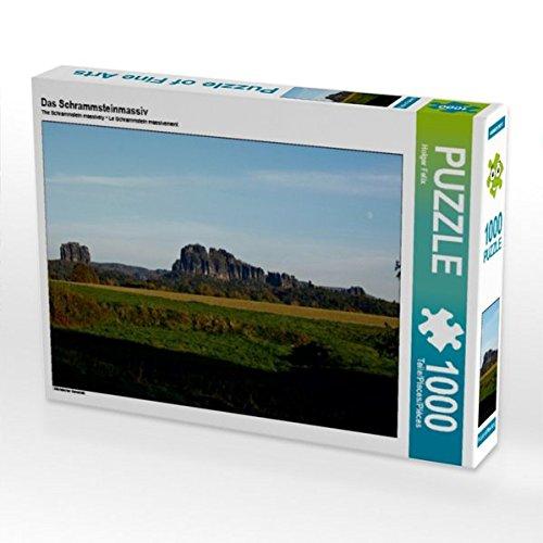 Preisvergleich Produktbild Das Schrammsteinmassiv 1000 Teile Puzzle quer: Sächsischer Sandstein (CALVENDO Natur)