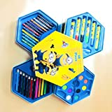 Ambica Art Set Of 46 Coloring Material (Set Of 1) (Yellow)