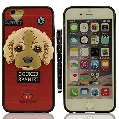 """Custodia Case per iPhone 6S Plus / 6 Plus 5.5"""", Piccolo Cane Aspetto Serie Vari Dog Trasparente Chiaro Cover Molto magro + 1 Penna stilografica - BEAGLE A9"""