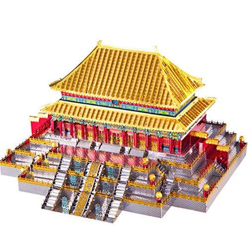 Metall-Bausatzmodell/Prince Hall Puzzle/DIY handgefertigt, kreatives Geschenk für Erwachsene Einheitsgröße gold ()