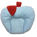 GoodStart Apple Shape Cotton Baby Head Shaping Pillow And Sleeping Pillow With Mustard Seeds In Blue & White