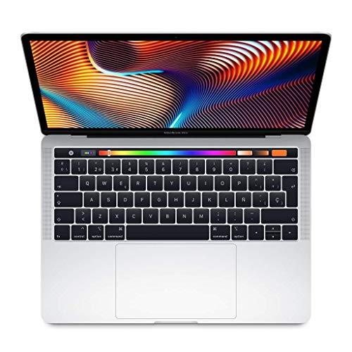 Apple MacBook Pro - Ordenador portátil de 13' (pantalla con Touch Bar, Intel Core i5 de cuatro núcleos a 2,3GHz de octava generación, 256 GB) plata