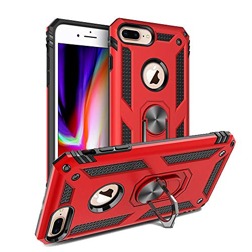 iPhone 6Plus iPhone 7Plus iPhone 8Plus Handyhüllen kompatibel mit Apple iPhone 6 7 8 Plus Hülle Luxus iphn 6Plus 7Plus 8Plus i Phone Cover i6 i7 i8 ipone Skin 14 cm (5,5 Zoll) - Rot, rot (I Phone Sechs Plus Cover)