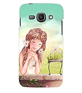 ColourCraft Dreaming Girl Back Case Cover for SAMSUNG GALAXY ACE 3