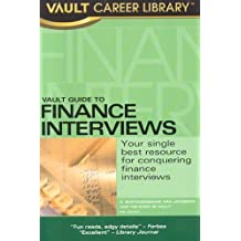 Vault Guide To Finance Interviews