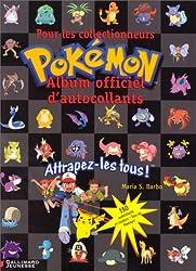 Album officiel d'autocollants Pokémon pour les collectionneurs