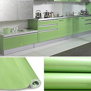 KINLO grün glanz Möbelfolie 5x0.61M PVC Klebefolie Küchenschrank Aufkleber Selbstklebend Küchenfolie Deko Plotterfolie