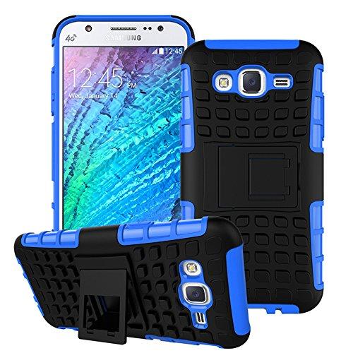Nnopbeclik Samsung Galaxy A3 (2015) SM-A300F Hülle, Dual Layer Rugged Armor stoßfest Handy Schutzhülle Silikon Tasche für Samsung Galaxy A3 (2015) SM-A300F - Blau + 1x Display Schutzfolie Folie