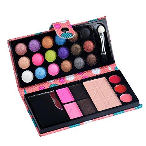 Siswong Professionnel Kit de maquillage Palette de fard à paupières Lèvre Brillant Rougir Concealer, 26 Couleur (Rose)
