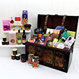 Grand Gourmet Large Vintage Style Wooden Chest Christmas...