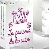 IDEAVINILO - vinilo decorativo infantil: La corona de la princesa de la casa. Medidas: 60x 70 cm