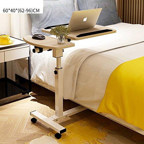 Yingui Justierbare Laptop-Bett-Tabelle, Bett-Behälter-Tabelle, tragbare stehende Tabelle, Faltbare Beine, Faltbare Sofa-Frühstücks-Tabelle (Color : Cherry Wood Color) -