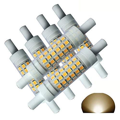 QLEE R7S LED 78 mm Dimmbar Doppelendige 5 Watt warm wei? 3000 K 50 W 60 W Tungsten Halogen-Glühlampe Ersatz J78 Leuchtmittel Warmwei? Flutlicht Spot Lights, metall,warm Light, R7s, 5.00W 230.00V -