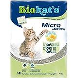 Biokat's Katzenstreu Micro white fresh, 1 Packung (1 x 14 L)