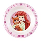 Home Disney Princess e Pet Piatto Fondo in Melammina, Rosa, 21 cm