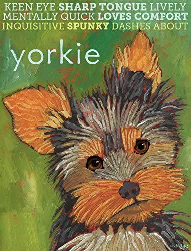 Ol322ay Yorkshire Terrier Wandkunst Yorkie Yorkshire Terrier für drinnen und draußen, Metallschild, Yorkie Kissen Yorkie Tote Bag Yorkie Magnet Yorkie Notizkarten Untersetzer