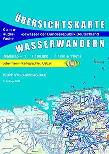 Übersichtskarte Wasserwandern Deutschland 1 : 1,1 Mill.