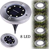 Omiky® 8 LED Solar Power Buried Licht Bodenleuchte Outdoor Weg