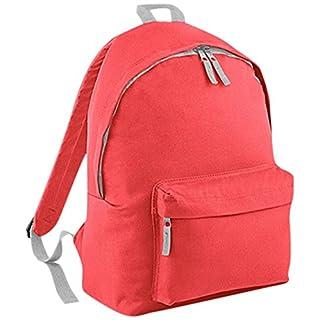 Bagbase Fashion Rucksack, 18 Liter One Size, Coral/Light Grey