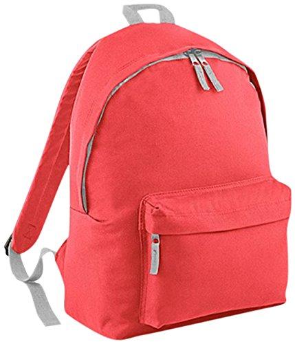 Bagbase Fashion Rucksack, 18 Liter One Coral/Light Grey