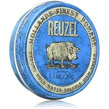 REUZEL Pomade Blue Strong Hold High Sheen Water Soluble, 1er Pack (1 x 35 g)